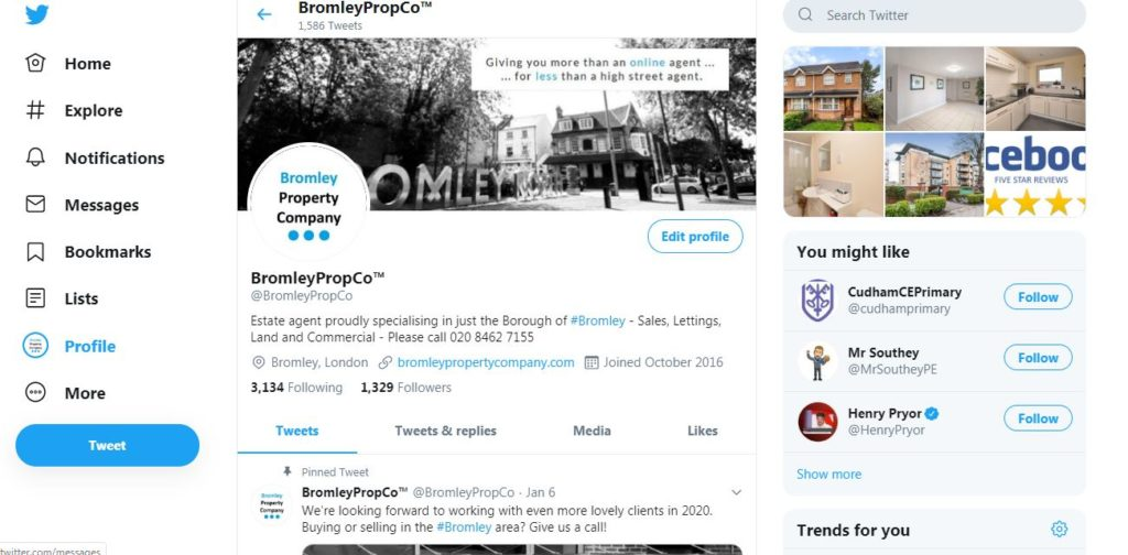 Bromley Property Company on Social Media