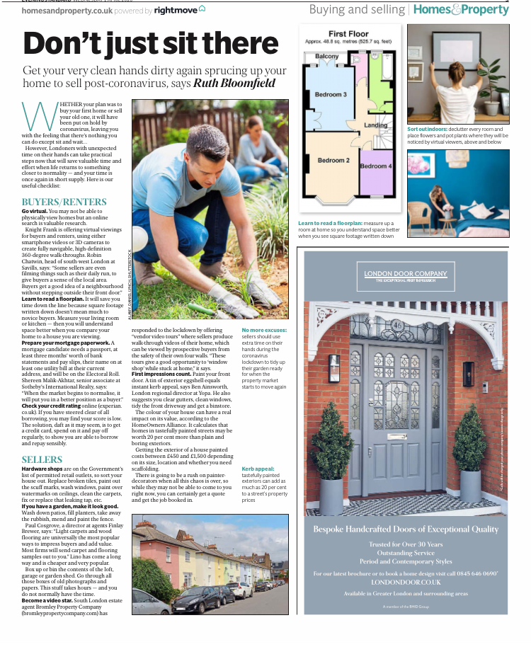 Bromley Property Company featured in London Evening Standard